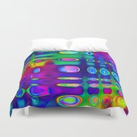 techno Duvet Covers featuring TECHNO-SPOTZ by David  Gough