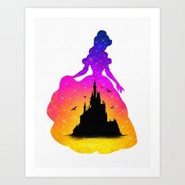 Belle Double Exposure - Digital Painting Art Print