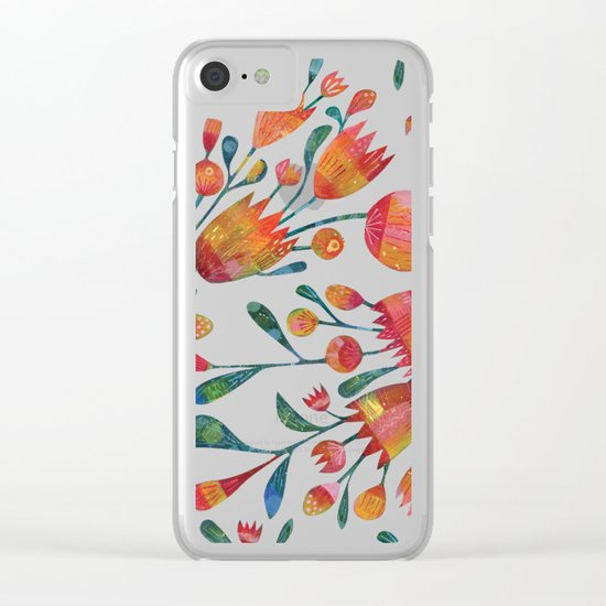 Buds and Flowers Clear iPhone Case