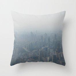 fade to gray (Shanghai) Throw Pillow