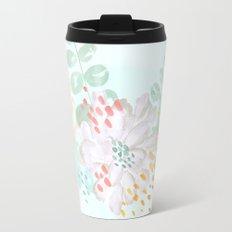 Paint splatter flower Travel Mug