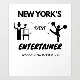 New York's Best Entertainer Art Print