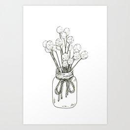 Pompom Branches Art Print