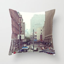 Shanghai Bund Street Throw Pillow