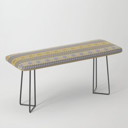 Granny's Fairisle - Honey Yellow Bench