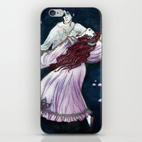 coven iPhone & iPod Skins featuring Coven - Dancing Witch by Lorena Garcia