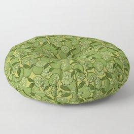 Lime Greenery Floor Pillow