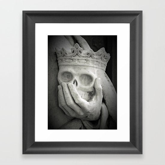 Death at Hand Framed Art Print