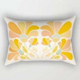 Summer Wildflowers in Golden Yellow Rectangular Pillow