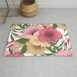 Trendy Seamless Floral Style Rug