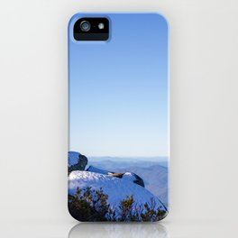 Snow on the rocks iPhone Case