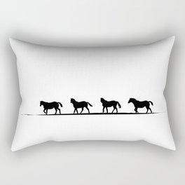 Trotting Home Rectangular Pillow
