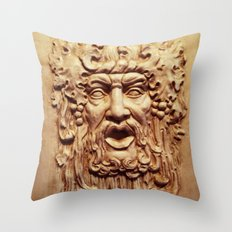 Face From a Fountain Throw Pillow