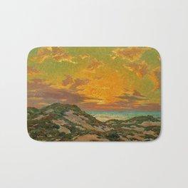 Sunset amid the Dunes by Granville Redmond Bath Mat