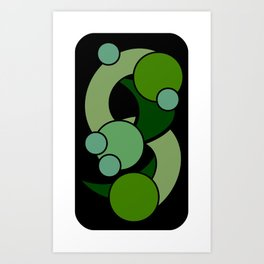 Green GobLins Art Print