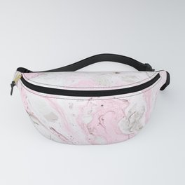 Pink and gray marble Fanny Pack