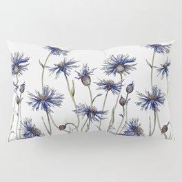 Blue Cornflowers, Illustration Pillow Sham