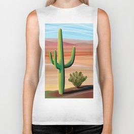 Saguaro Cactus in Desert Biker Tank