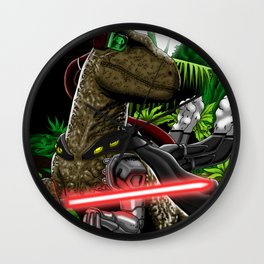 Cyber raptor Wall Clock