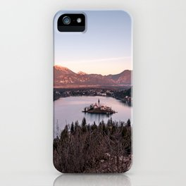 Sunset at Lake Bled, Slovenia iPhone Case