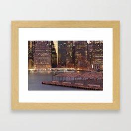 a city never sleeps Framed Art Print