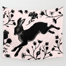 Hare & Vines Wall Tapestry