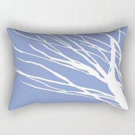 Tree Silhouette Periwinkle Blues Rectangular Pillow