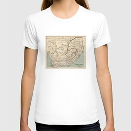 Vintage Map of South Africa (1889) T-shirt