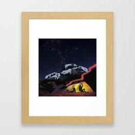 Tent Stories Framed Art Print