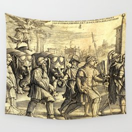Petrarch's Triumph of Fame Wall Tapestry