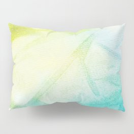 Abstract lime green teal hand painted watercolor pattern Pillow Sham