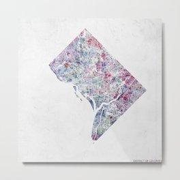 District of Columbia map 2 Metal Print