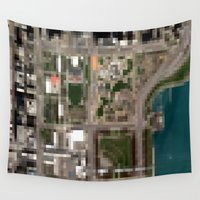 chicago Wall Tapestries featuring Chicago by Mark John Grant