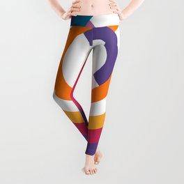 Bauhaus inspired design in a ultraviolet palette Leggings