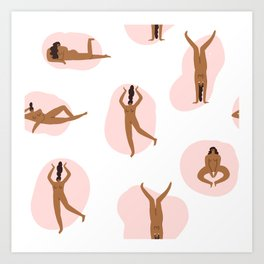 Naked party Art Print