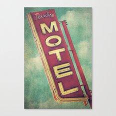Paradise Motel Sign Canvas Print