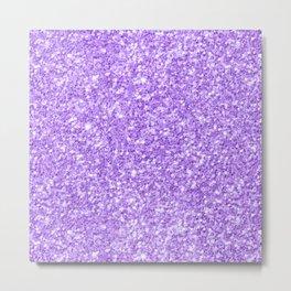 Purple glitter & sparkles texture print Metal Print