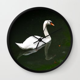 The Swan by Lika Ramati Wall Clock