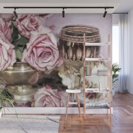 Wine And Roses Wall Mural