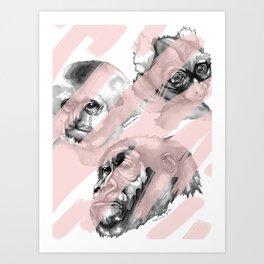 Erasing primates Art Print