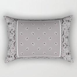 Classic Gray Bandana Rectangular Pillow
