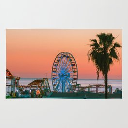 Sunset on the Pier Rug