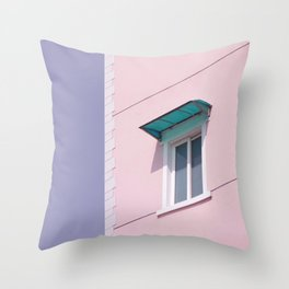 CLOSED SLIDING WINDOW Throw Pillow