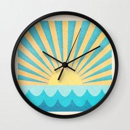 Glowing Sun Wall Clock