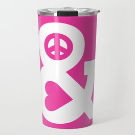 Peace and Love (pink edition) Travel Mug