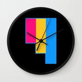 Pansexual Wall Clock