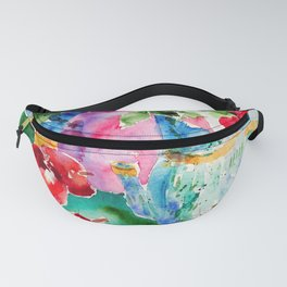 Watercolor Roses Still Life Fanny Pack