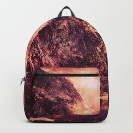 Galaxy Mountains : Mauve Burgundy Backpack