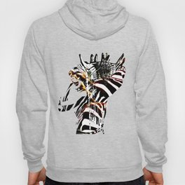 African woman with zebraprint Hoody