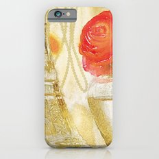 Doré -- Gilded Still Life with Red Ranunculus and Collage Effects iPhone 6s Slim Case